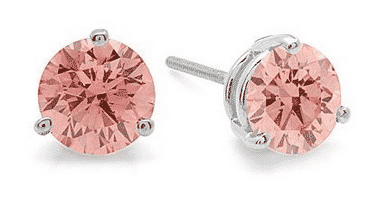 Pink Diamond earrings