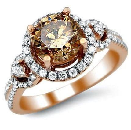 diamond ring bordeaux gold effy tcw brown rose pin and