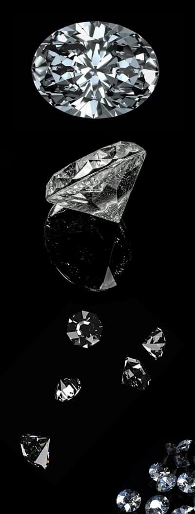Diamonds Black Background